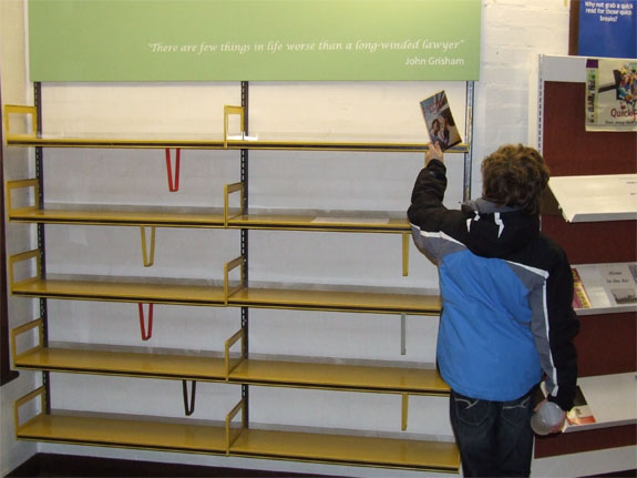 Newport empty shelves